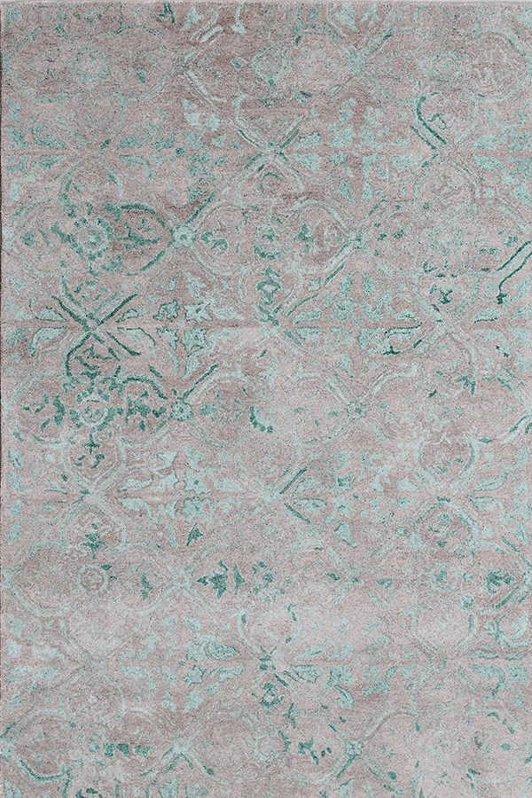 Grey, Green (7815-940) Vintage / Overdyed Area Rug
