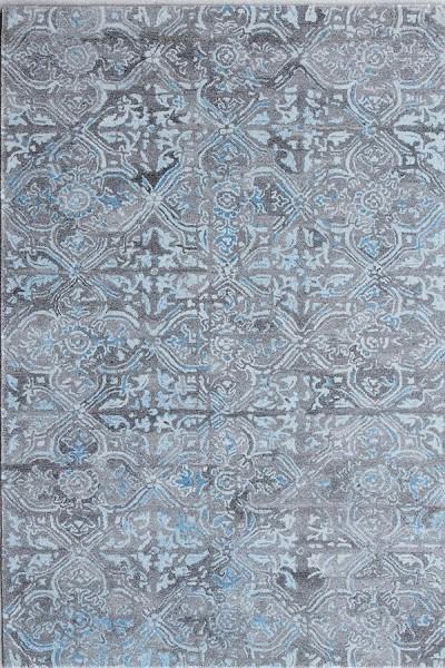 Grey, Blue (7815-950) Vintage / Overdyed Area Rug