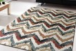 Product Image of Ivory, Red (996) Chevron Area Rug