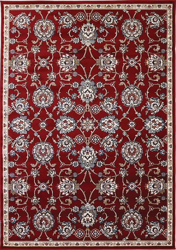 Red, Ivory (339) Traditional / Oriental Area Rug