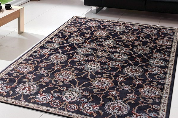 Anthracite, Gray (558) Traditional / Oriental Area Rug