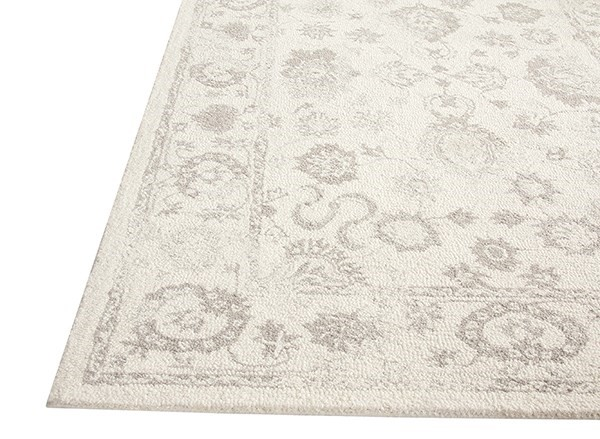 Ivory, Silver (106) Vintage / Overdyed Area Rug