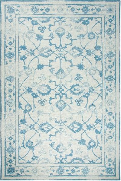 Ivory, Light Blue (109) Vintage / Overdyed Area Rug