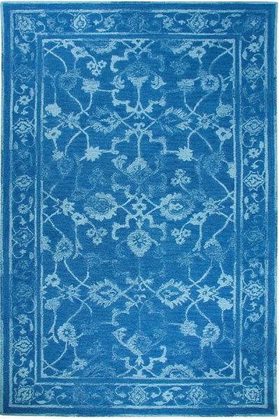 Dark Blue, Light Blue (591) Vintage / Overdyed Area Rug