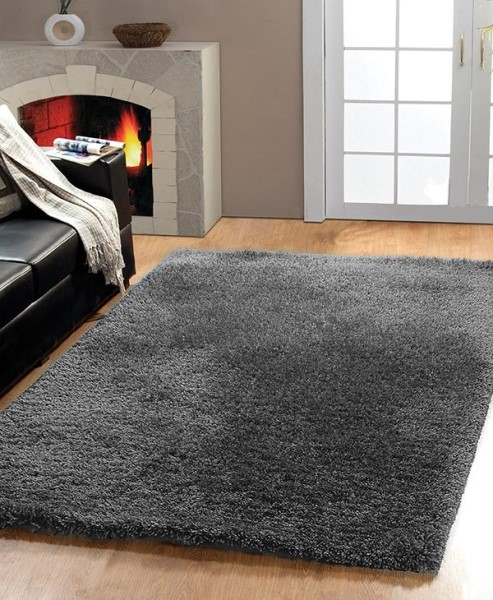 Black, White (109) Solid Area Rug