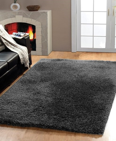 Dark Silver (909) Solid Area Rug
