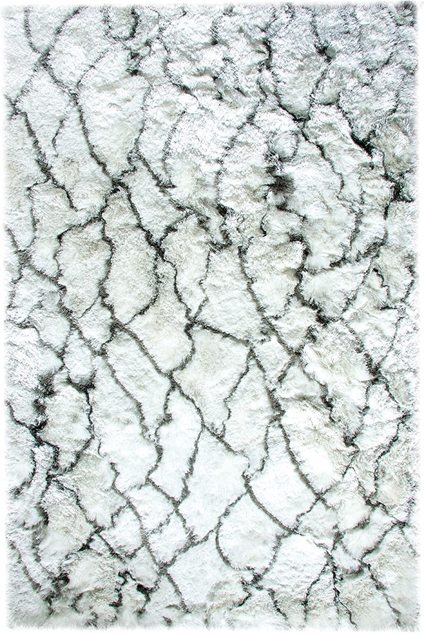 Ivory, Grey (109) Shag Area Rug