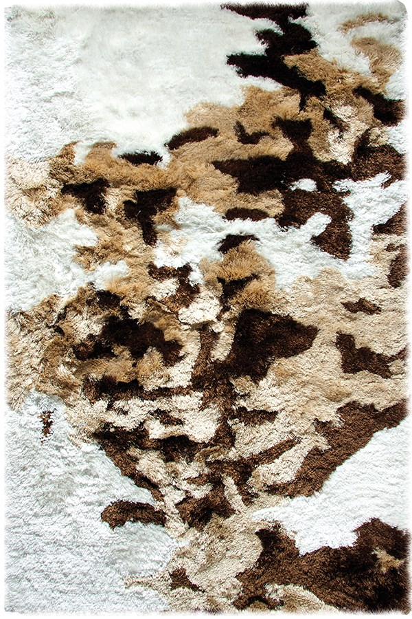 Ivory, Beige Green (114) Abstract Area Rug