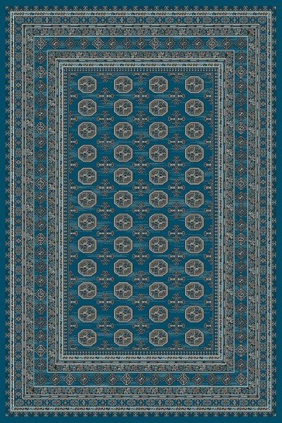 Blue, Grey (8989) Traditional / Oriental Area Rug