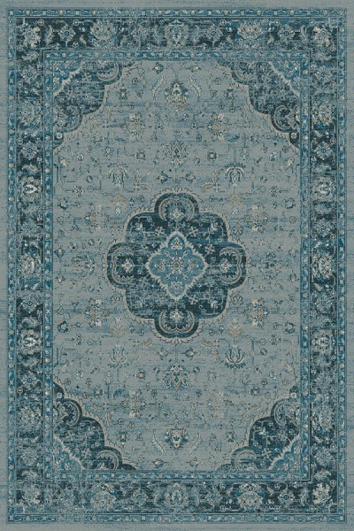 Blue, Grey (4989) Traditional / Oriental Area Rug