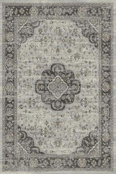 Grey, Grey (5979) Traditional / Oriental Area Rug