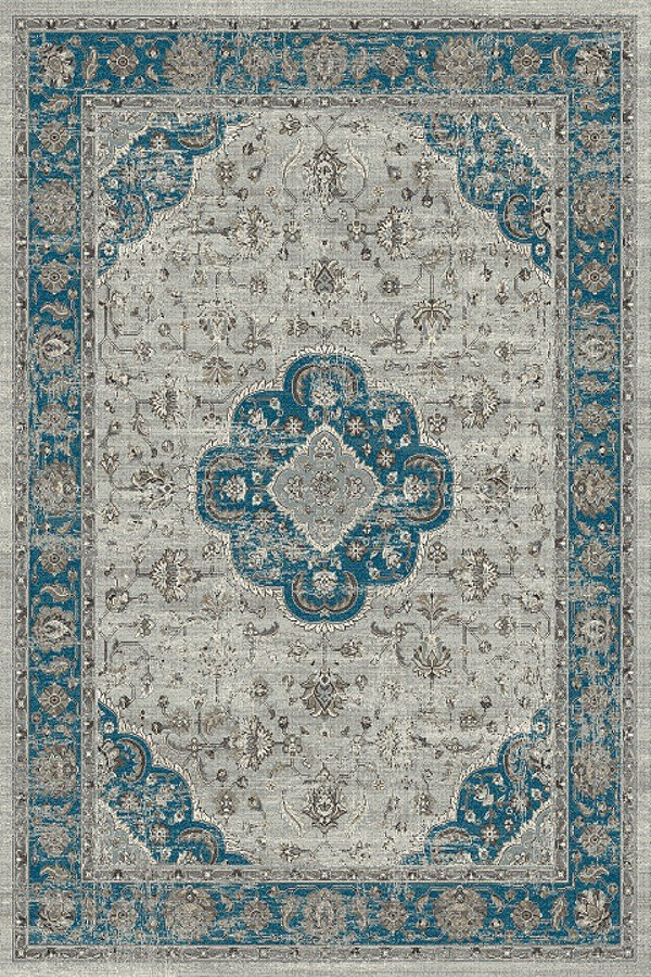 Blue, Grey (5989) Traditional / Oriental Area Rug
