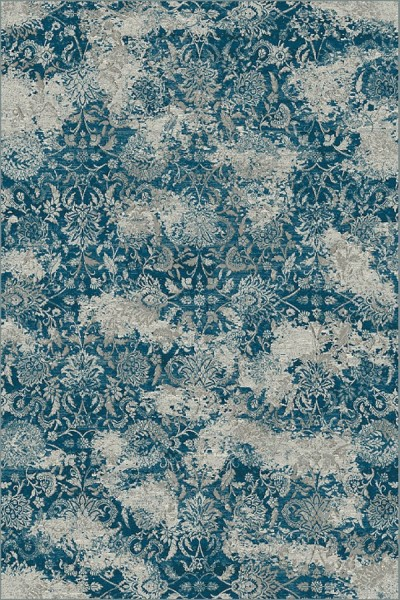Blue, Grey (8959) Vintage / Overdyed Area Rug