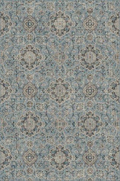 Blue, Taupe (4929) Traditional / Oriental Area Rug