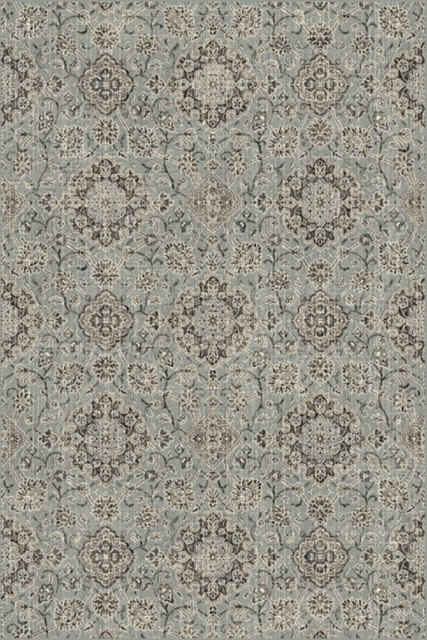 Silver, Blue (5929) Traditional / Oriental Area Rug