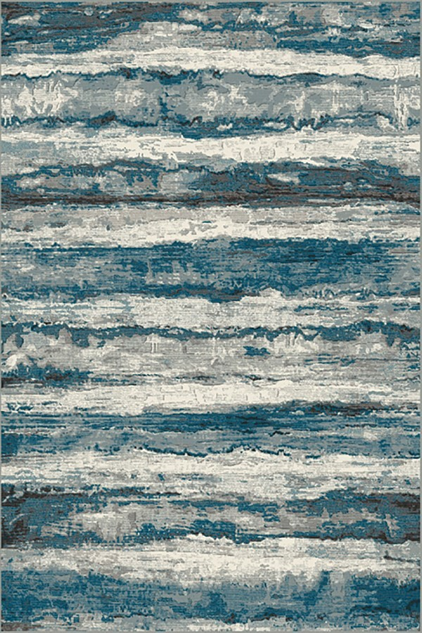 Blue, Grey (5989) Abstract Area Rug