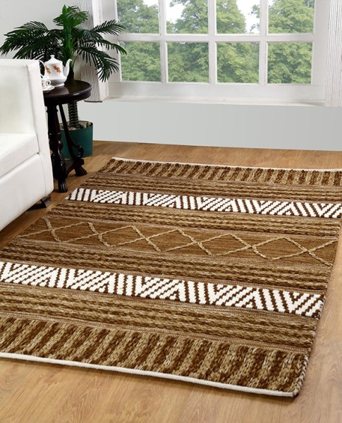 Gold, Ivory (107) Moroccan Area Rug