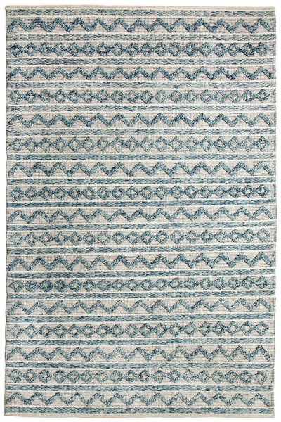 Teal, Ivory (144) Moroccan Area Rug