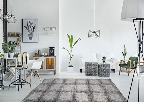 Black, White (6248) Contemporary / Modern Area Rug