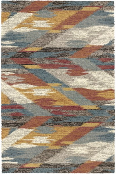 Grey (6969) Shag Area Rug