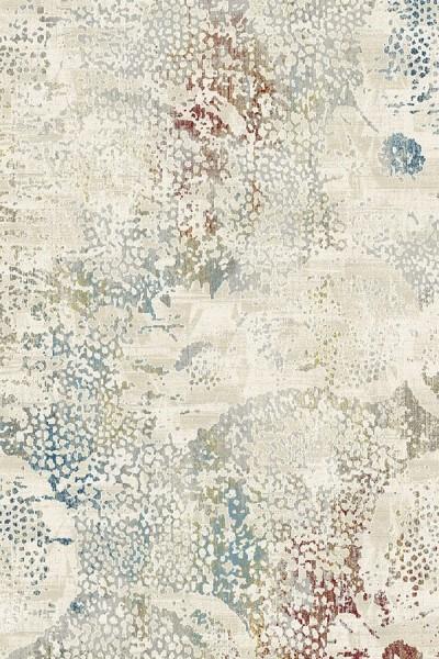 Ivory, Grey (100) Contemporary / Modern Area Rug
