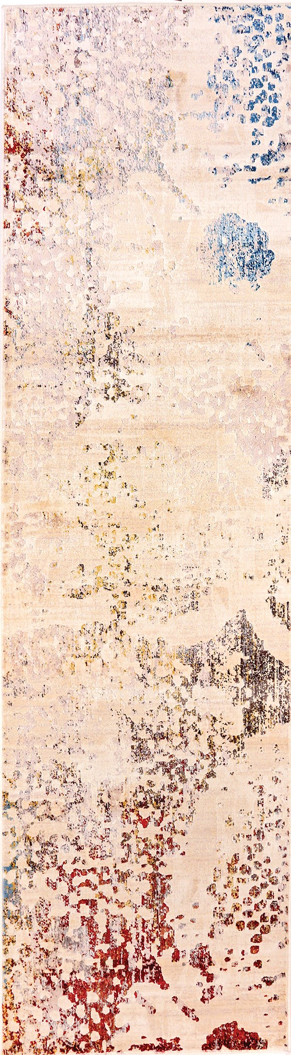Ivory, Grey (100) Contemporary / Modern Area Rug