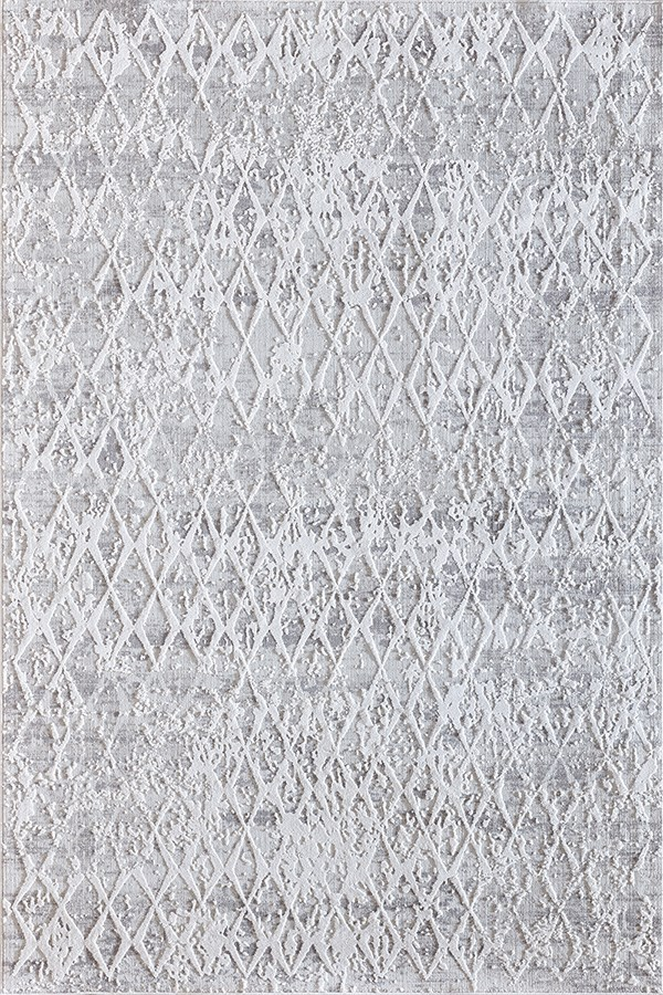 Ivory, Silver (111) Contemporary / Modern Area Rug