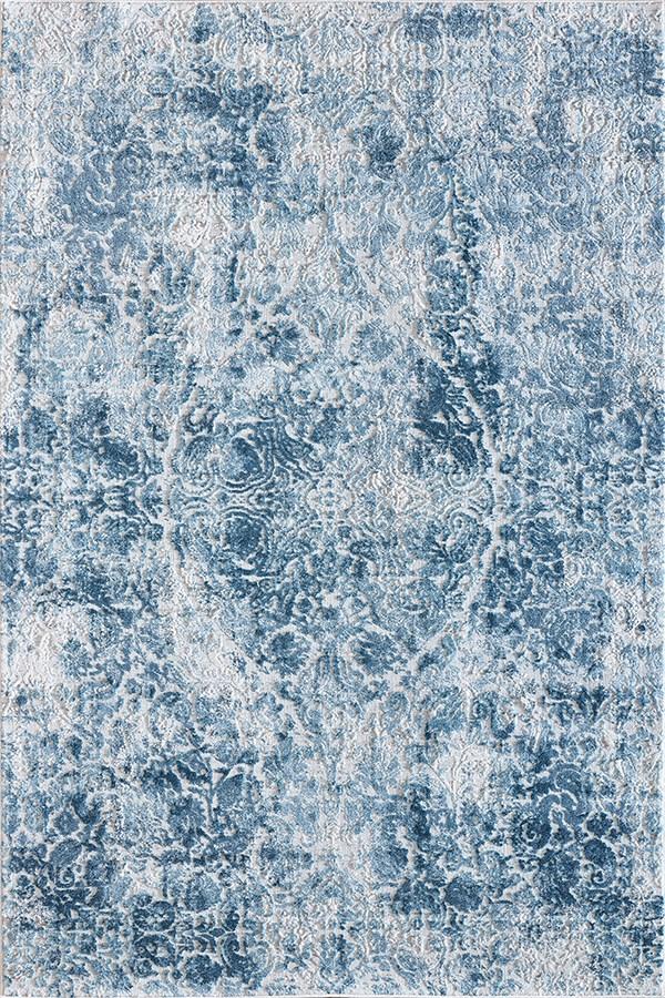 Ivory, Blue (500) Vintage / Overdyed Area Rug