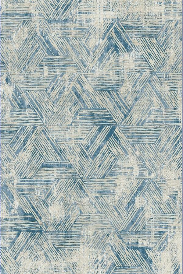 Beige, Blue (150) Vintage / Overdyed Area Rug