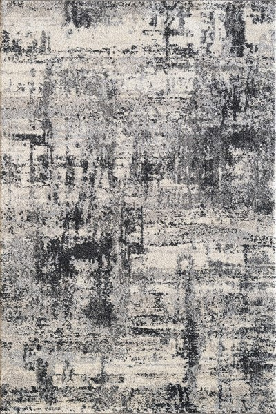 Ivory, Grey (190) Abstract Area Rug