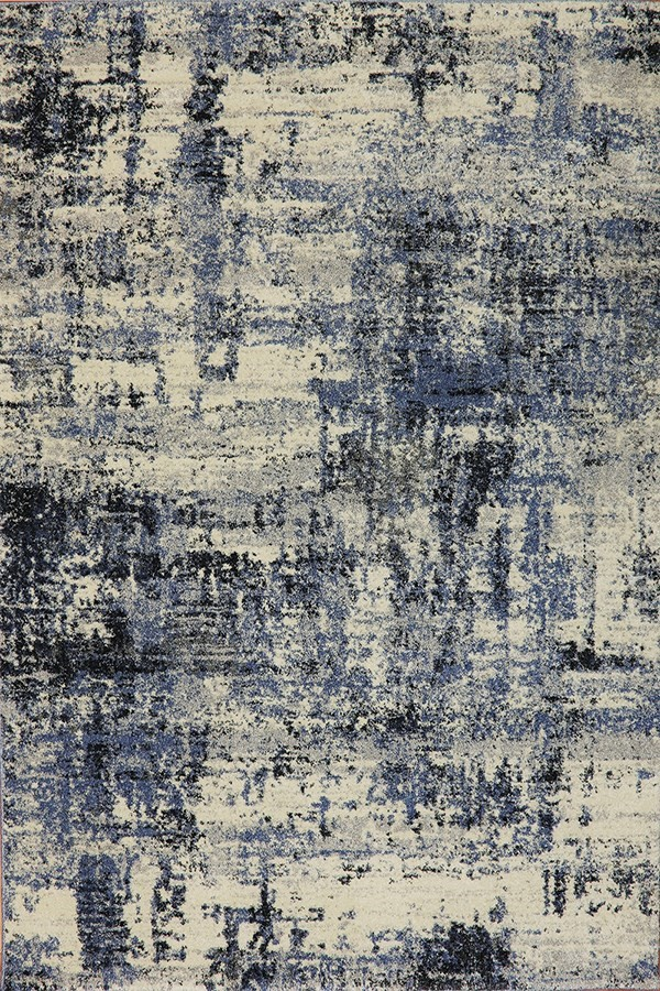 Blue (500) Abstract Area Rug