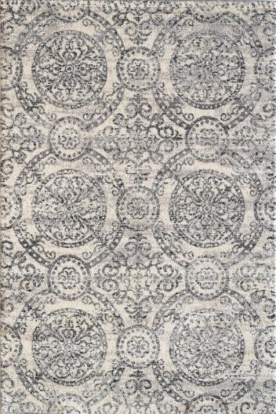 Ivory, Grey (190) Contemporary / Modern Area Rug