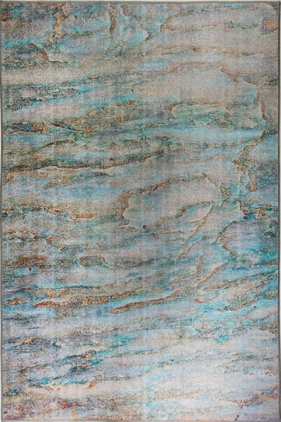Turquoise (599) Abstract Area Rug