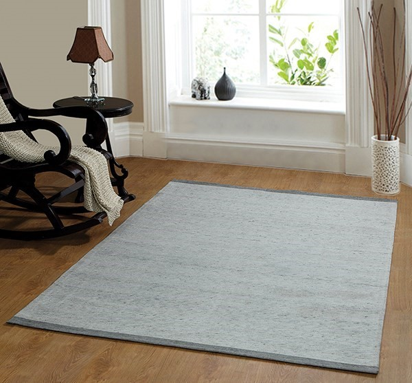 Blue (500) Solid Area Rug