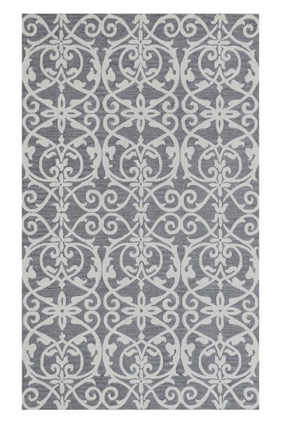 Silver (910) Traditional / Oriental Area Rug