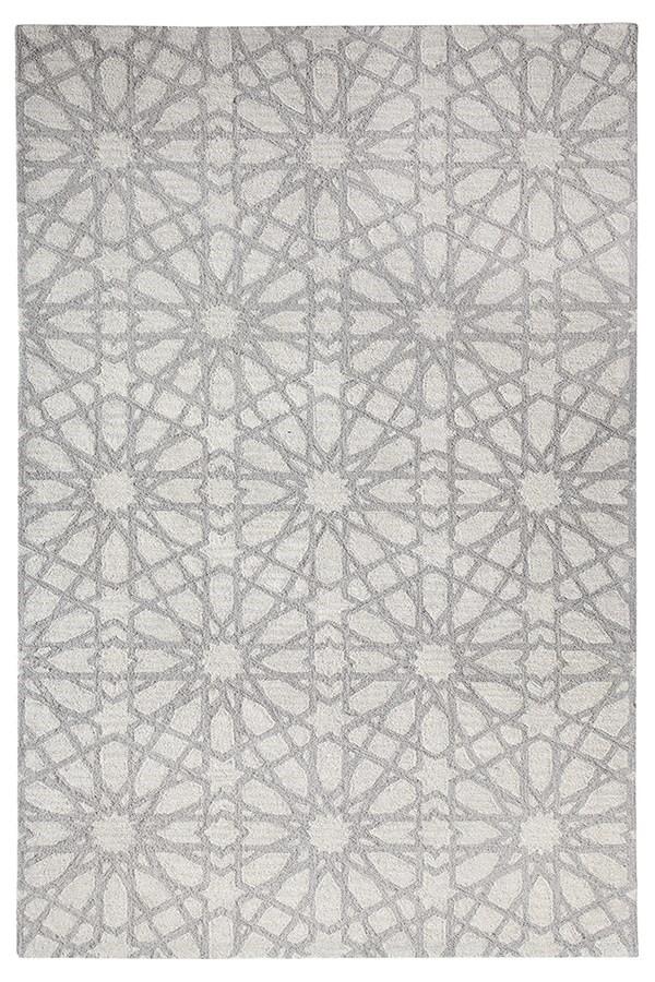 Silver (900) Geometric Area Rug