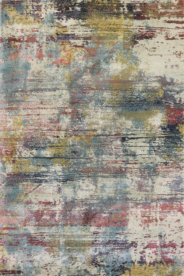 Tan (599) Abstract Area Rug
