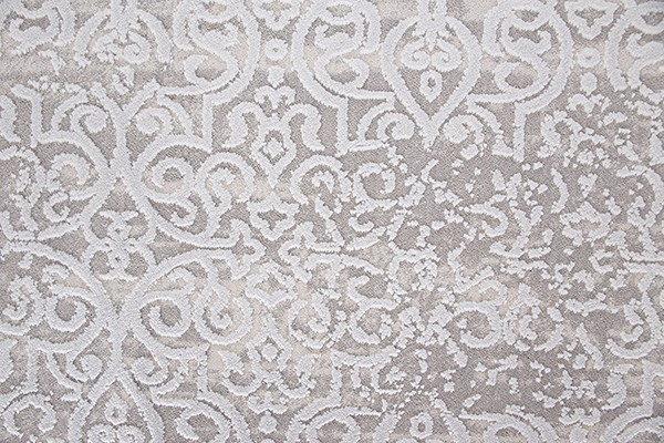 Grey, Blue (105) Damask Area Rug