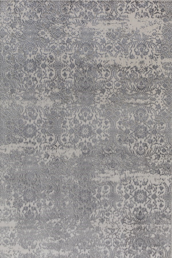 Light Grey (109) Damask Area Rug