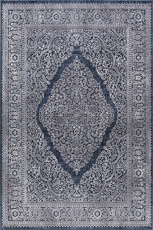 Navy (500) Traditional / Oriental Area Rug