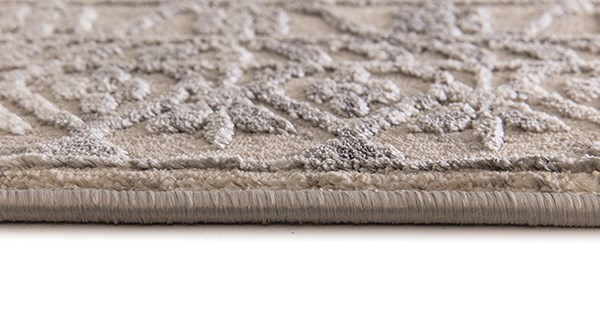 Grey, Beige (970) Abstract Area Rug