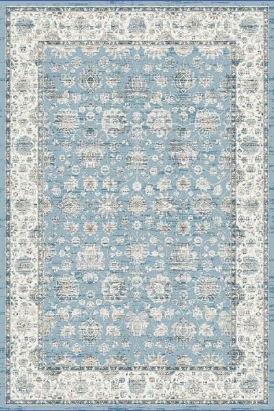 Light Blue (500) Traditional / Oriental Area Rug