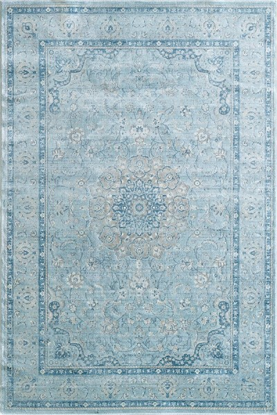 Light Blue (509) Traditional / Oriental Area Rug