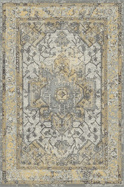 Grey, Gold (5220) Traditional / Oriental Area Rug