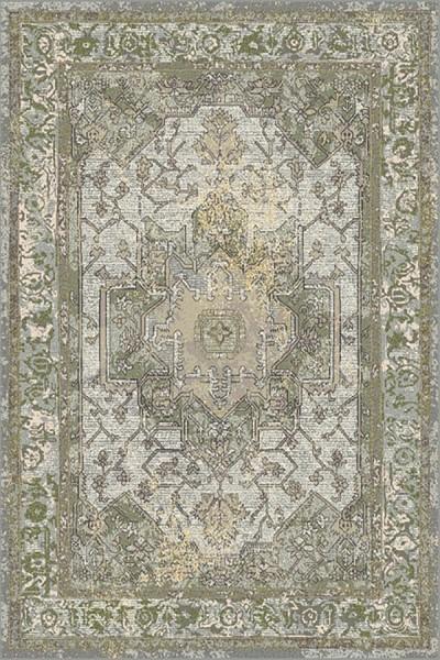 Grey, Green (5240) Traditional / Oriental Area Rug