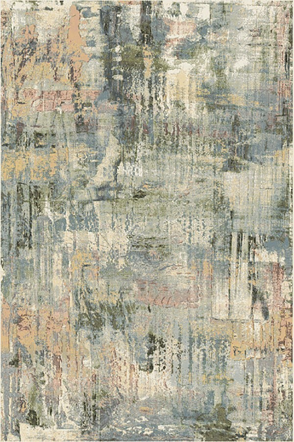 Green, Taupe (6260) Abstract Area Rug