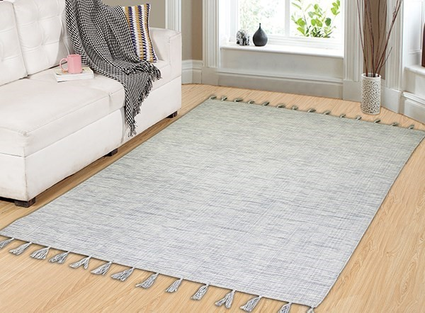 Ivory (100) Contemporary / Modern Area Rug