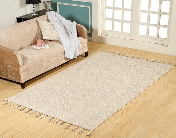 Beige (110) Contemporary / Modern Area Rug
