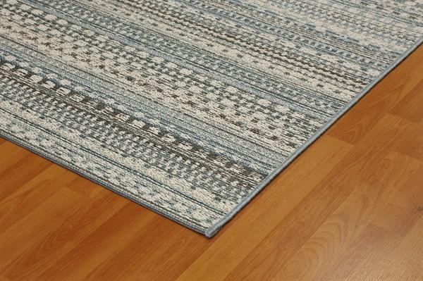 Beige, Blue (5032) Outdoor / Indoor Area Rug