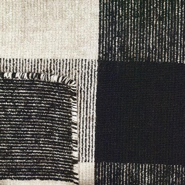 Black, White Rustic / Farmhouse Area Rug